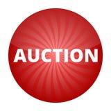 Veilings rood teken, knoop, pictogram Royalty-vrije Stock Afbeeldingen