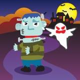 Veille de la toussaint Frankenstein effrayant Photos stock