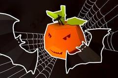 Veille de la toussaint heureuse Décor de Halloween fait de papier Image libre de droits