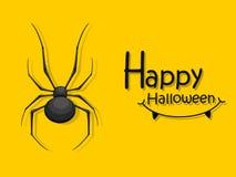 Veille de la toussaint heureuse Icône de bande dessinée d'araignée Cadeau et elemen décoratifs Images stock