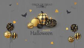 Veille de la toussaint heureuse Tour ou festin boo Le concept de vacances avec le fantôme de confettis de scintillement monte en  illustration stock