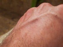 Vein on the wrist. Vein on the male wrist royalty free stock photos