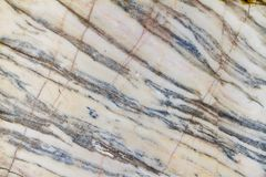 Veined white marble in a quarry Royalty Free Stock Photo