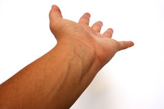 Veins. On a wrist reaching out Stock Image