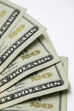 Veinte 20 billetes de dólar Foto de archivo