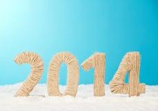 Veinte-catorceno Año Nuevo de los dígitos del tejido Imagen de archivo libre de regalías