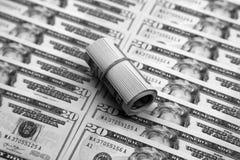 Veinte cuentas de dólar Foto de archivo libre de regalías