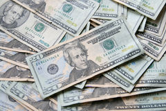 Veinte cuentas de los E.E.U.U. del dólar Fotos de archivo libres de regalías