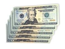 Veinte dólares Imagen de archivo libre de regalías