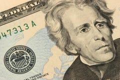 Veinte dólares de primer de la cuenta Fotos de archivo
