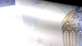 Veinte Euros Flag Waving ilustración del vector
