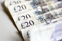 Veinte notas de la libra Banco de Inglaterra fotos de archivo
