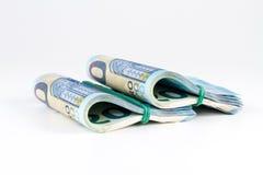 Veinte paquetes euro de billetes de banco Imagen de archivo