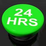Veinticuatro horas de demostraciones del botón abren 24 horas Imagen de archivo