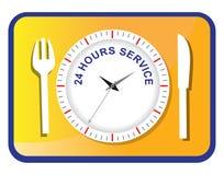 Veinticuatro horas de servicio Ilustración del Vector
