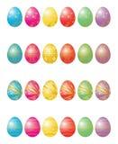 Veinticuatro huevos de Pascua Foto de archivo libre de regalías