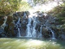Veintitrés cascadas coloreadas de la tierra Foto de archivo libre de regalías