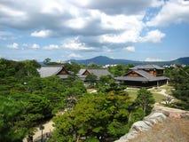 Veiw ландшафта японского замка Стоковые Изображения