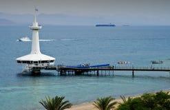 veiw морской обсерватории Израиля подводное Стоковая Фотография