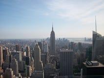 Veiw Нью-Йорка Имперского штата от Рокефеллер Стоковые Фотографии RF