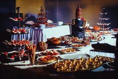 Veiw покрашенного конца-вверх десертов печений Стоковые Изображения