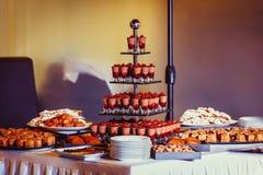 Veiw покрашенного конца-вверх десертов печений Стоковое Изображение