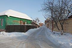 Veiw центра города Kolomna зимы России стоковое изображение rf