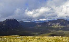 Veiw aéreo do vale de Glencoe em Escócia Foto de Stock Royalty Free