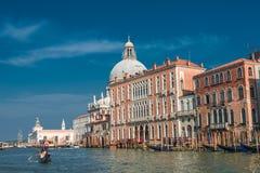 Veiw At Basilica Di Santa Maria Della Salute, Venice, Italy Stock Image