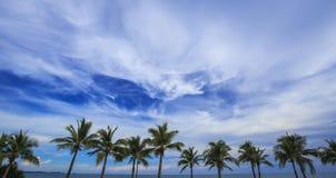 Veiw of cloudy blue sky Stock Photography