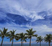 Veiw of cloudy blue sky Royalty Free Stock Photography
