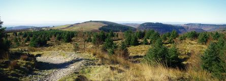 Veiw from Cwmcarn mountain bike trail Royalty Free Stock Photos
