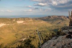 Veiw de DOS Diamantina de Chapada encima de Morro Pai Inacio fotografía de archivo