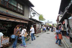 Veiw de la calle en Kyoto Japón Imágenes de archivo libres de regalías