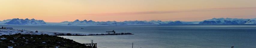 Panorama Veiw d'Arctique Images libres de droits