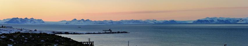 Panorama Veiw del ártico Imágenes de archivo libres de regalías