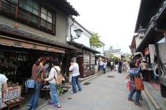 Veiw della via a Kyoto Giappone Immagini Stock Libere da Diritti
