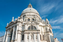 Veiw an den Basilikadi Santa Maria della Salute, Venedig, Italien Lizenzfreies Stockfoto
