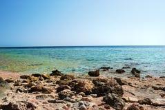 Veiw en el mar azul Fotos de archivo