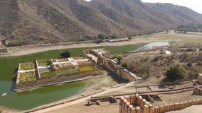 Veiw från det amer fortet jaipur Arkivbilder