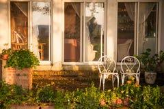 A veiw of a garden Stock Photos