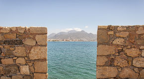 Veiw of Lerapetra from Kales Fort Stock Photography