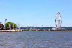 Veiw on the National Harbor waterfront development. Royalty Free Stock Photos