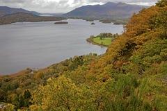 Veiw od punktu widzenia Derwent wysokiej above wody; Jeziorny okręg; C Zdjęcie Royalty Free