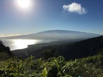 Veiw over het kijken Haleakala, Maui Royalty-vrije Stock Afbeeldingen