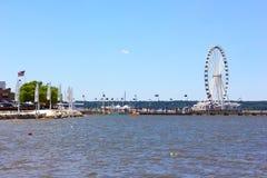 Veiw på den nationella hamnstrandutvecklingen Royaltyfria Foton