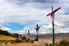 Veiw sobre o Peru de Cusco fotos de stock