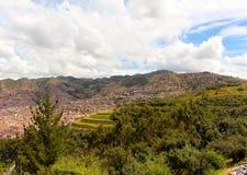Veiw sobre o Peru de Cusco fotos de stock royalty free