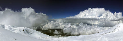 Veiw van helling van Elbrus Stock Fotografie