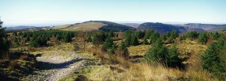 Veiw von der Cwmcarn-Mountainbikespur Lizenzfreie Stockfotos
